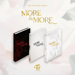 TWICE 9no Mini Álbum - MORE & MORE (Versión Random) CD + Poster
