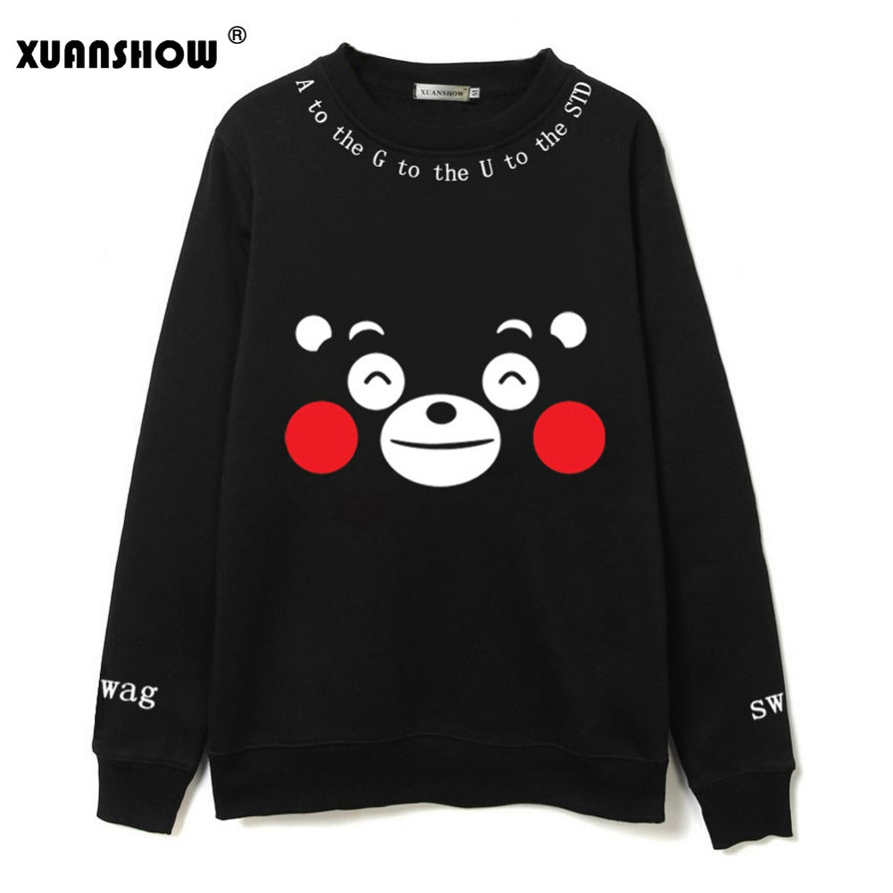 Sweater estilo Femenino Kawaii, estampado de osito Kumamon KPOP