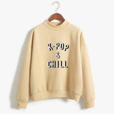 Sweater K-POP & CHILL, de algodon, disponible en 8 colores diferentes