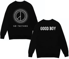 Sweater BIG BANG - Taeyang GOOD BOY, disponible en blanco y negro