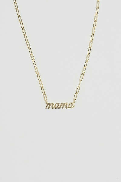 Mama Link Chain Necklace 1