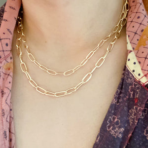 Double The Gold Chain Link Necklace