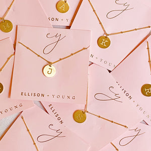Ellison + Young: Singular Charm Initial Necklace