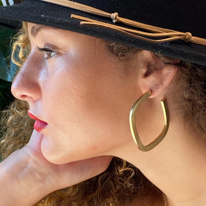 Overall Luxe Square Hoop Earrings