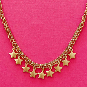 Stars of the Sky Necklace, Gold