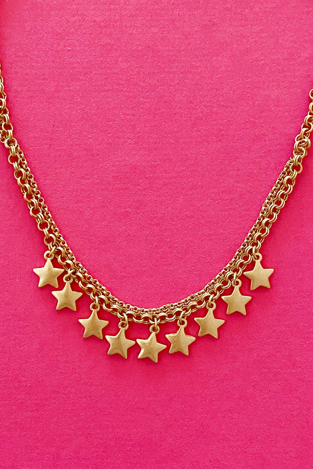Stars of the Sky Necklace, Gold 1