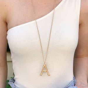 Ellison + Young: Bamboo Initial Necklace Collection