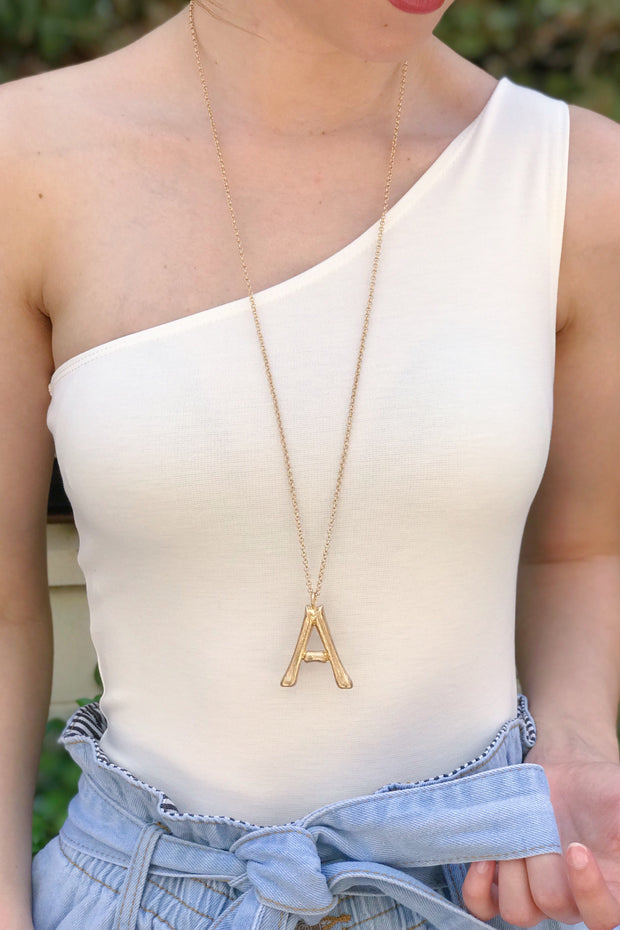 Ellison + Young: Bamboo Initial Necklace Collection 1