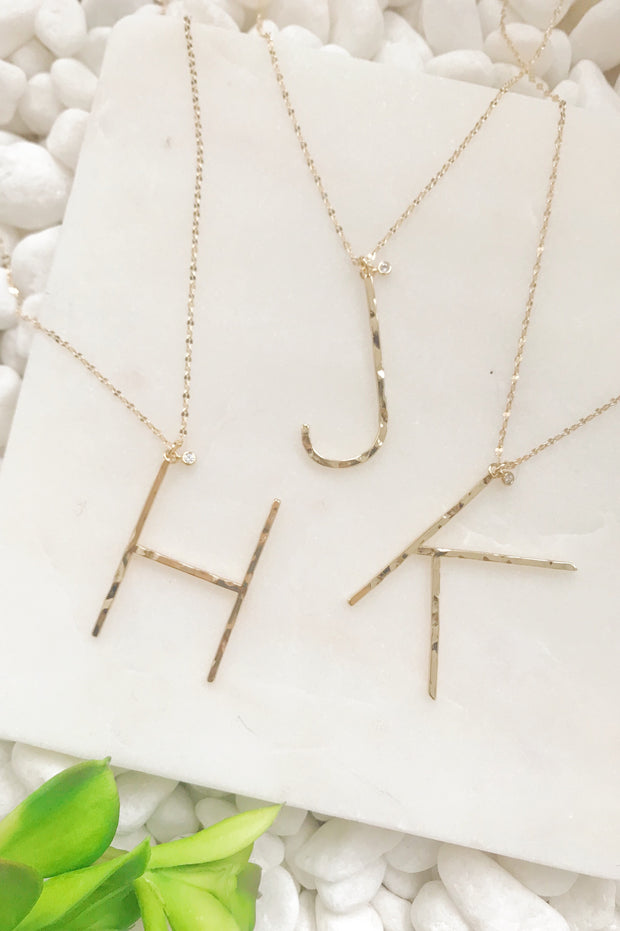 Ellison + Young: Modern Muse Monogram Necklace Collection 1