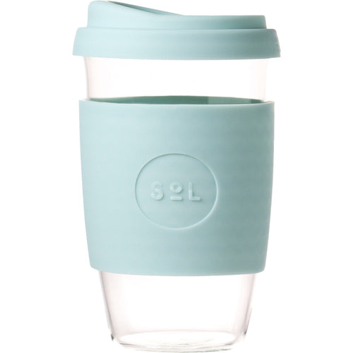 SoL Cups Glass Cup from One Less - Cool Cyan 16oz