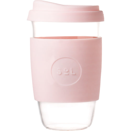 SoL Cups Glass Coffee Tumbler from One Less - Perfect Pink 16oz