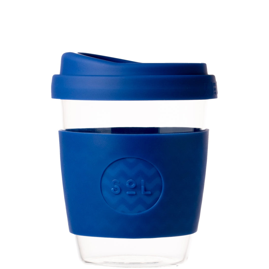 SoL Cups Glass Tumbler from One Less - Winter Bondi Blue 12oz