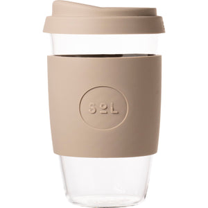 SoL Cups Glass Coffee Tumbler from One Less - Seaside Slate 16oz
