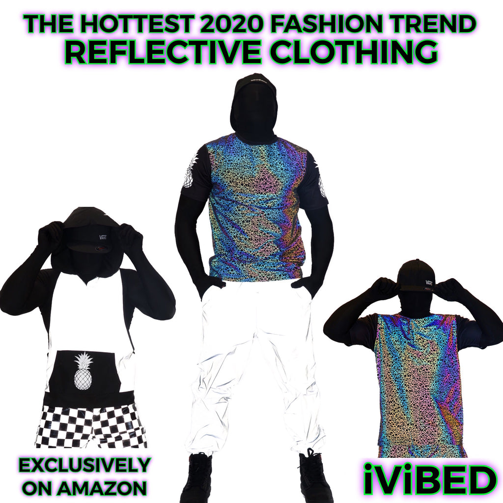 Womens Reflective Clothing - The Hottest Reflective Clothing Ever. NEW TREND 2020 Rave Clothing