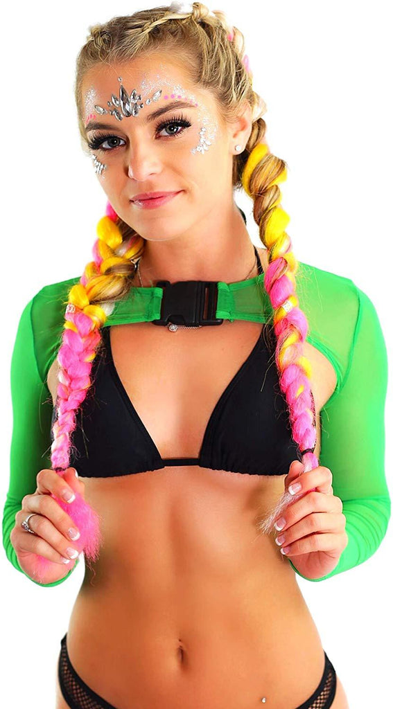 womens-rave-clothing neon-mesh-crop tops