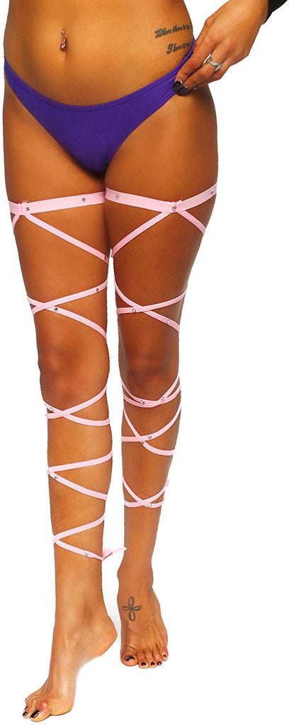 Rave Leg Wraps Rhinestone Rave Festival Clothing Accessories EDM Outfits