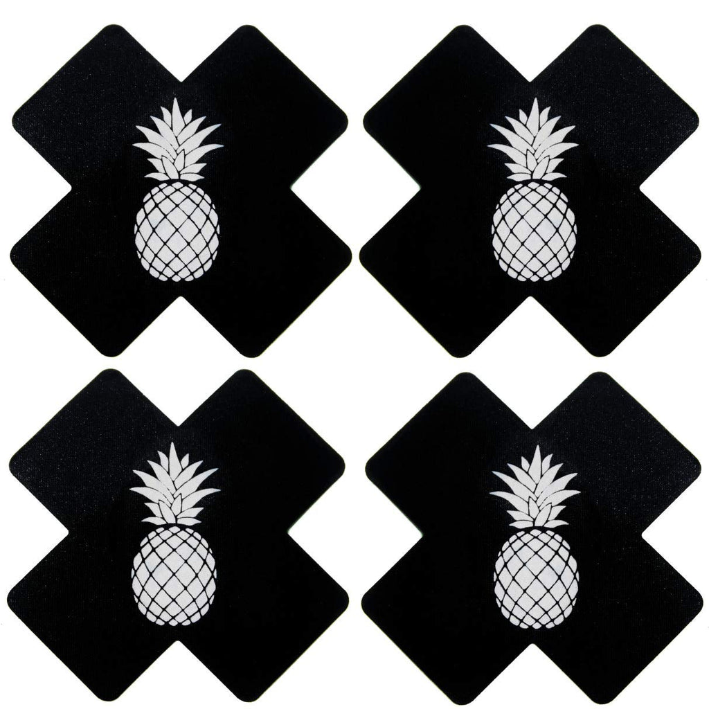 black-x-pasties black-cross-pasties black-nipple-cover rave-pasties edm-pasties festival-pasties nipple-covers titty-stickers pineapple-pasties