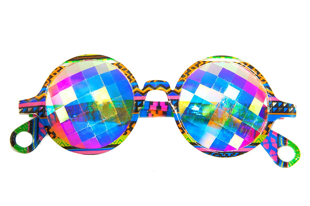 Rave Kaleidoscope Sunglasses Glasses and EDM Googles That Scream Festival Raver