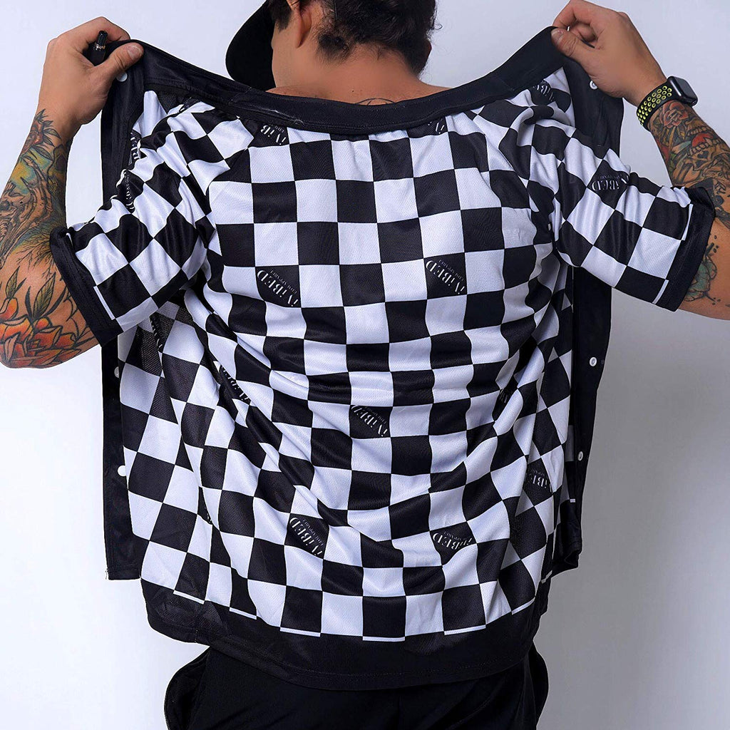 Mens Rave Jersey - Checker Headbanger