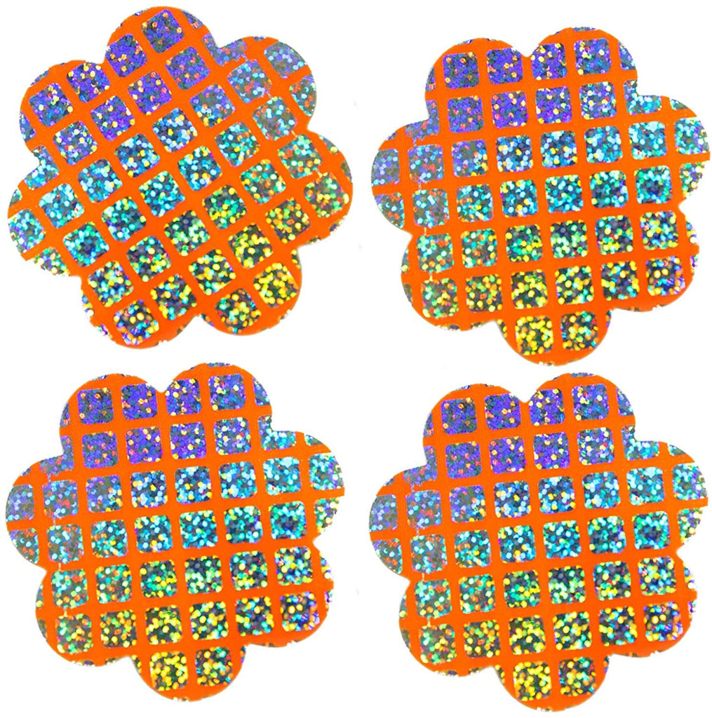Rave Pasties EDM Festival - 2pk Checkerboard Hearts