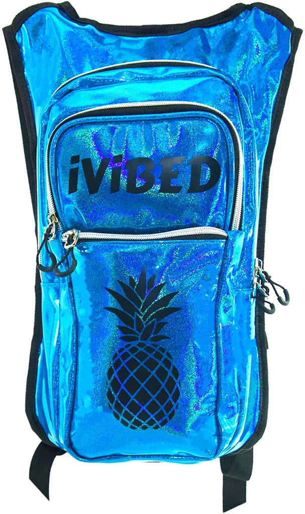 IVIBED Womens Holographic Rave Hydration Bag - EDM Backpacks Water Bags Festival Hydro