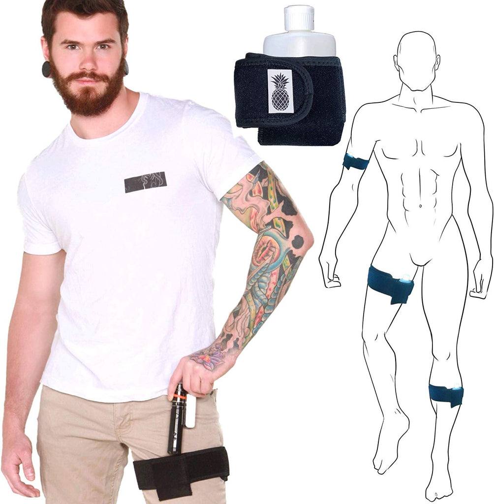 IVIBED Hidden Pocket Leg Strap Stash - Pocket Speak Easy Pick Pocket Proof First Aid