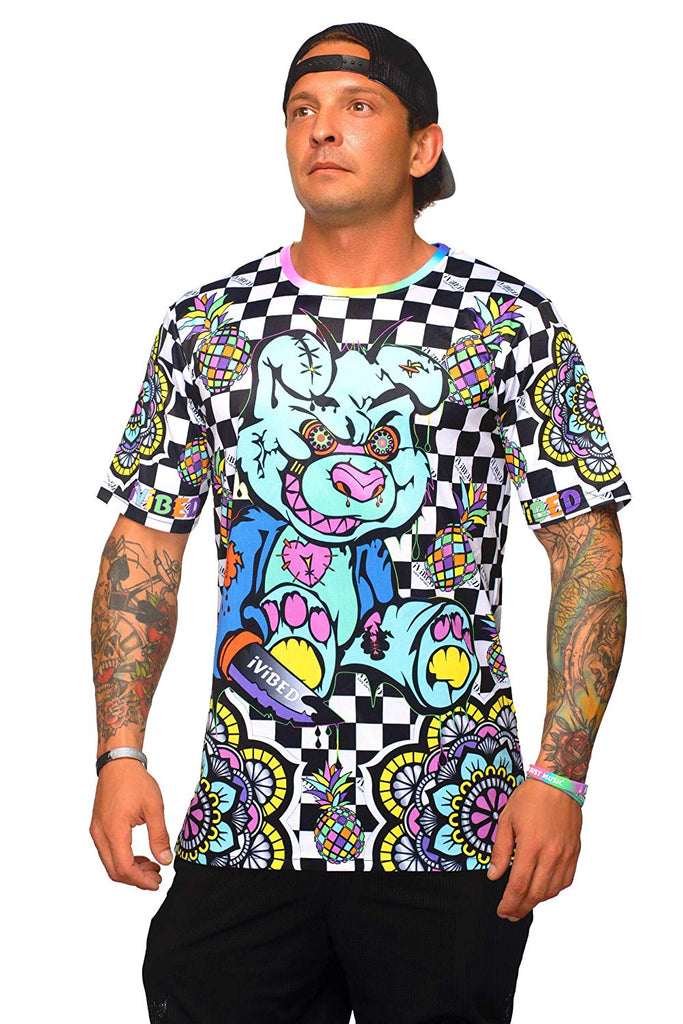 Mens Rave Jersey - Neon Bear