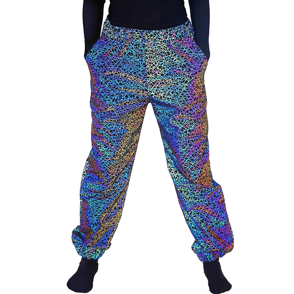 Reflective Rave Pants Joggers – Silver