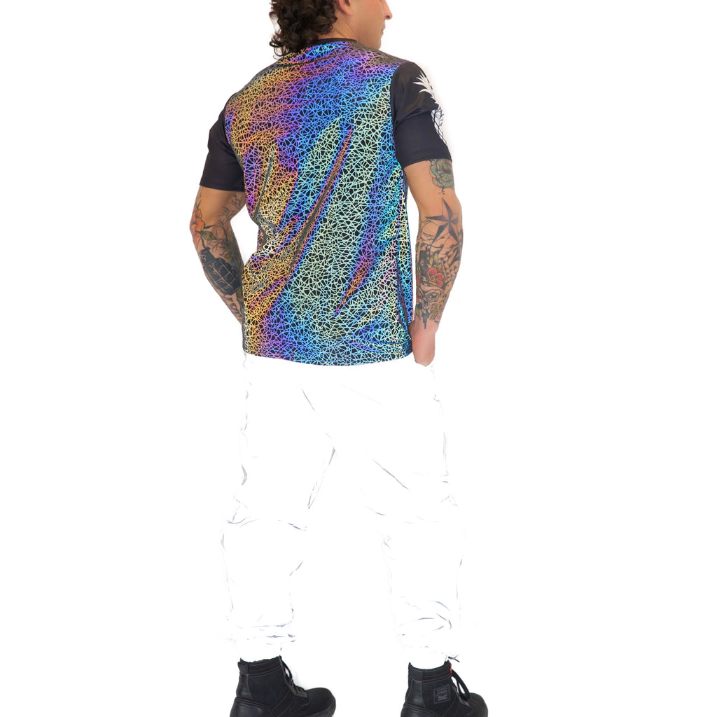 Reflective T-Shirt Jerseys - Sacred Geometry w/ Logo