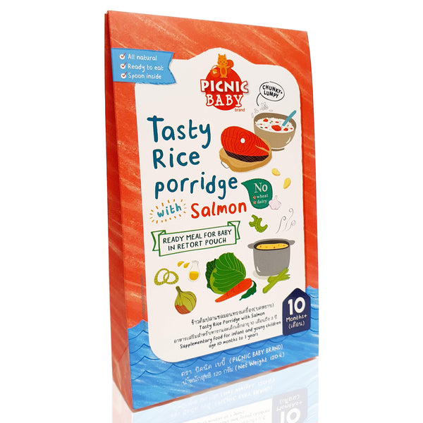 *PREORDER* PICNIC BABY Tasty Rice Porridge with Salmon 120g (10M+)