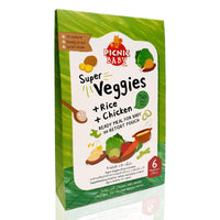 *PREORDER* PICNIC BABY Super Veggies with Rice & Chicken 100g (6M+)