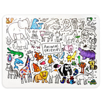 """Animal Friends"" Washable Silicone Colouring Mat Set"