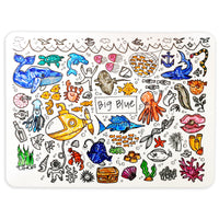 """Big Blue"" Washable Silicone Colouring Mat Set"