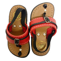 Brown sole/Red strap Capal
