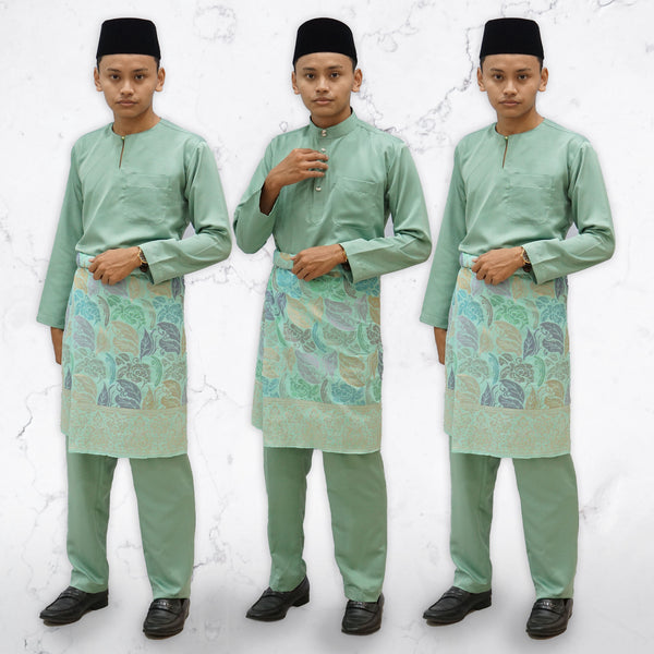 Dusty Green Traditional Baju Melayu (ADULT)