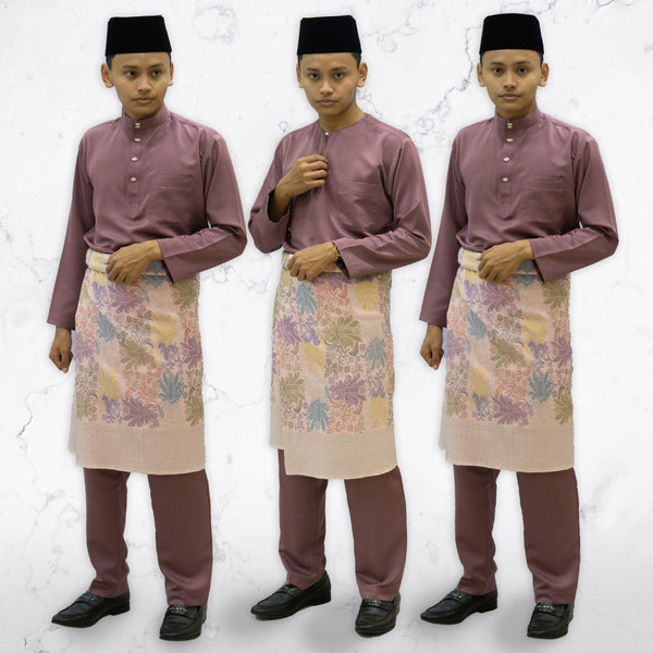 Dusty Purple Traditional Baju Melayu (ADULT)