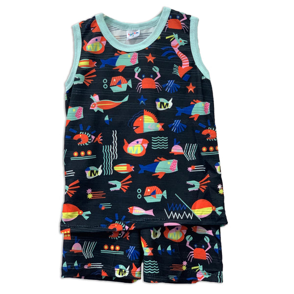 Dark Blue Sea Sleeveless Playset
