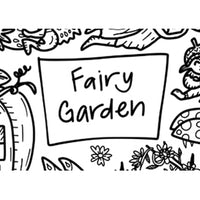"""Fairy Garden"" Washable Silicone Colouring Mat Set"