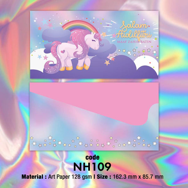 NH109 Starry Unicorn Raya Envelopes