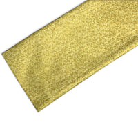 Gold Shimmer Leaves Buckwheat Pillow