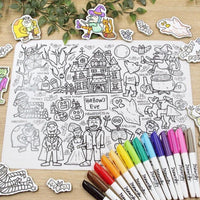 """Hallow's Eve"" Washable Silicone Colouring Mat Set"