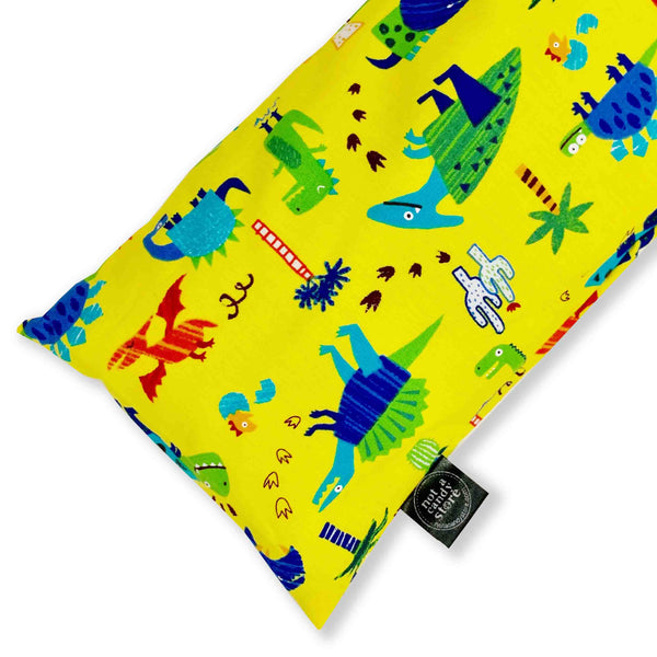 Yellow Dinosaur Buckwheat Pillow