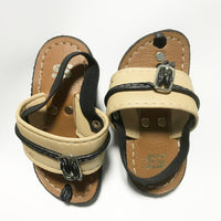 Brown sole/Cream strap Capal