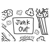 """Junk Out"" Washable Silicone Colouring Mat Set"