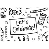 """Let's Celebrate"" Washable Silicone Colouring Mat Set"