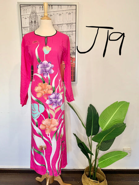 Jubah Batik Long-Sleeves <J17>
