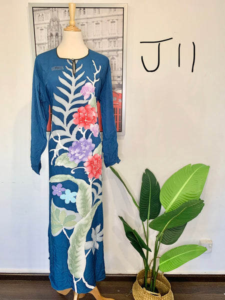 Jubah Batik Long-Sleeves <J11>