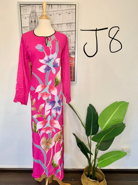 Jubah Batik Long-Sleeves <J8>