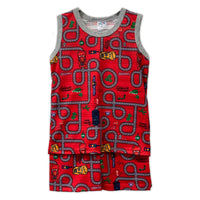 Red Car Sleeveless Playset
