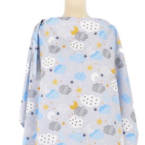 Clouds and Stars Nursing Cover